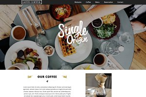 Coffee Website Responsive Template