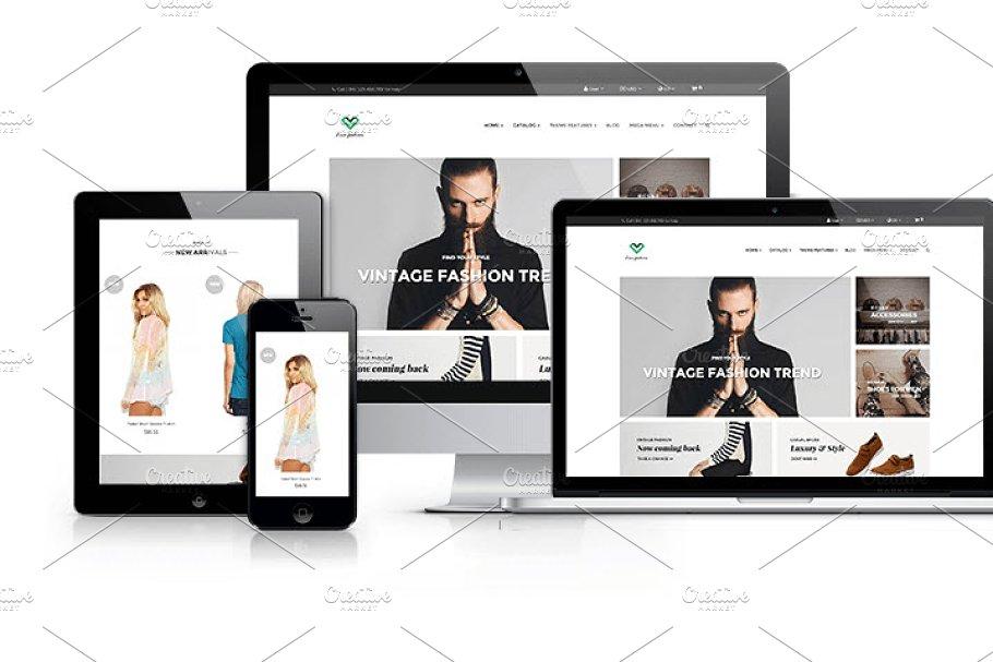Ap Love Fashion Prestashop Website Templates Creative Market