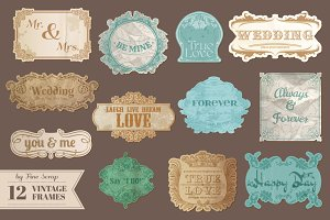 12 Vintage wedding frames