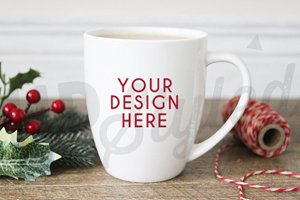 F150 Christmas Styled Mug Mock Up
