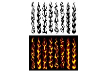 Tribal flames and elements
