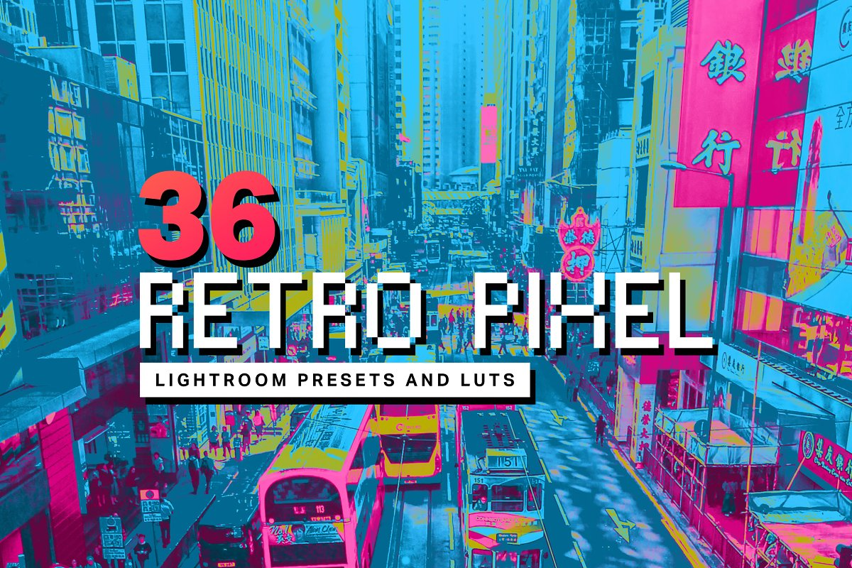 36 Retro Pixel Lightroom Presets