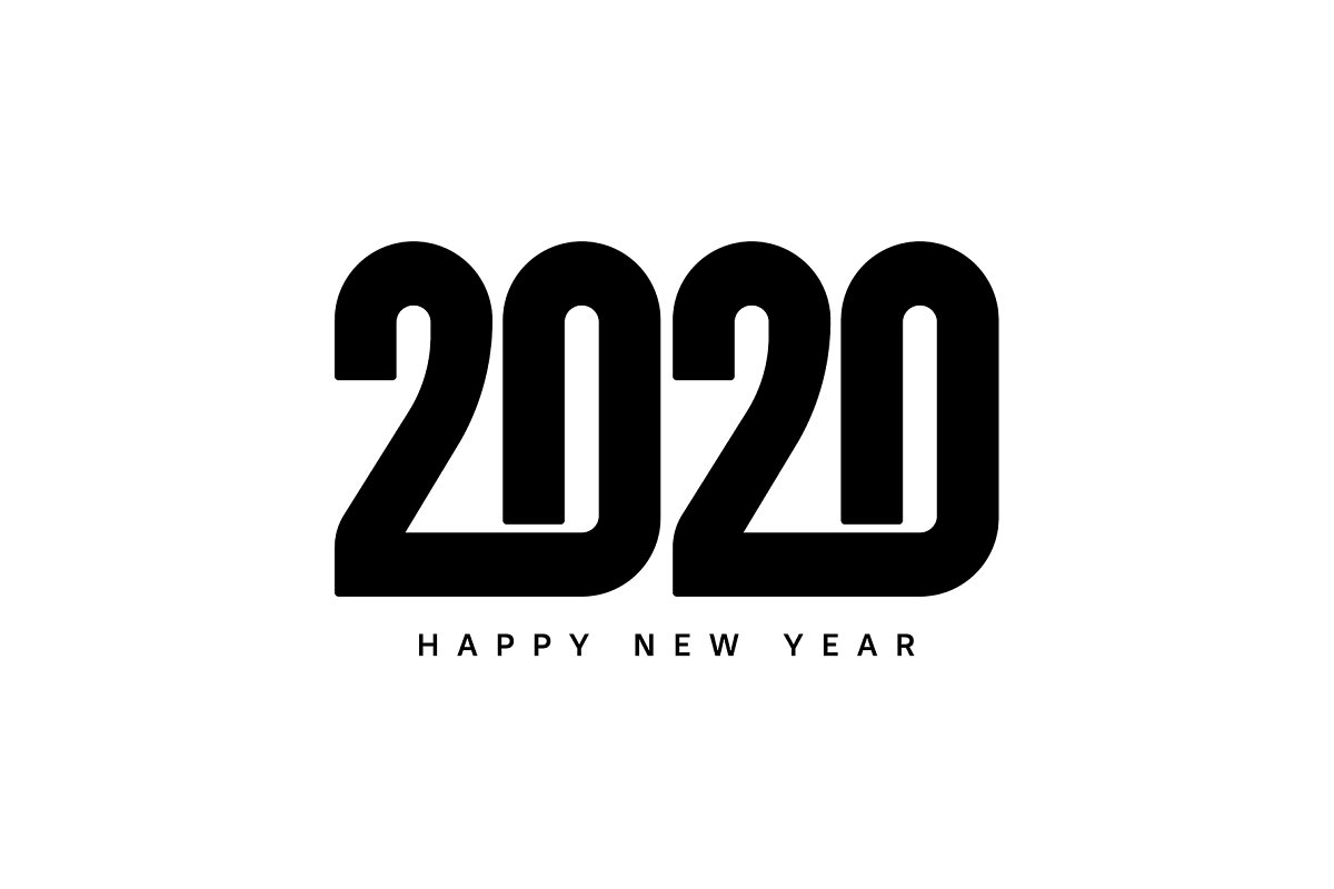 Happy New Year 2020 Logo Text Design Cover Business Diary ...