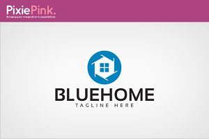 Blue Home Logo Template