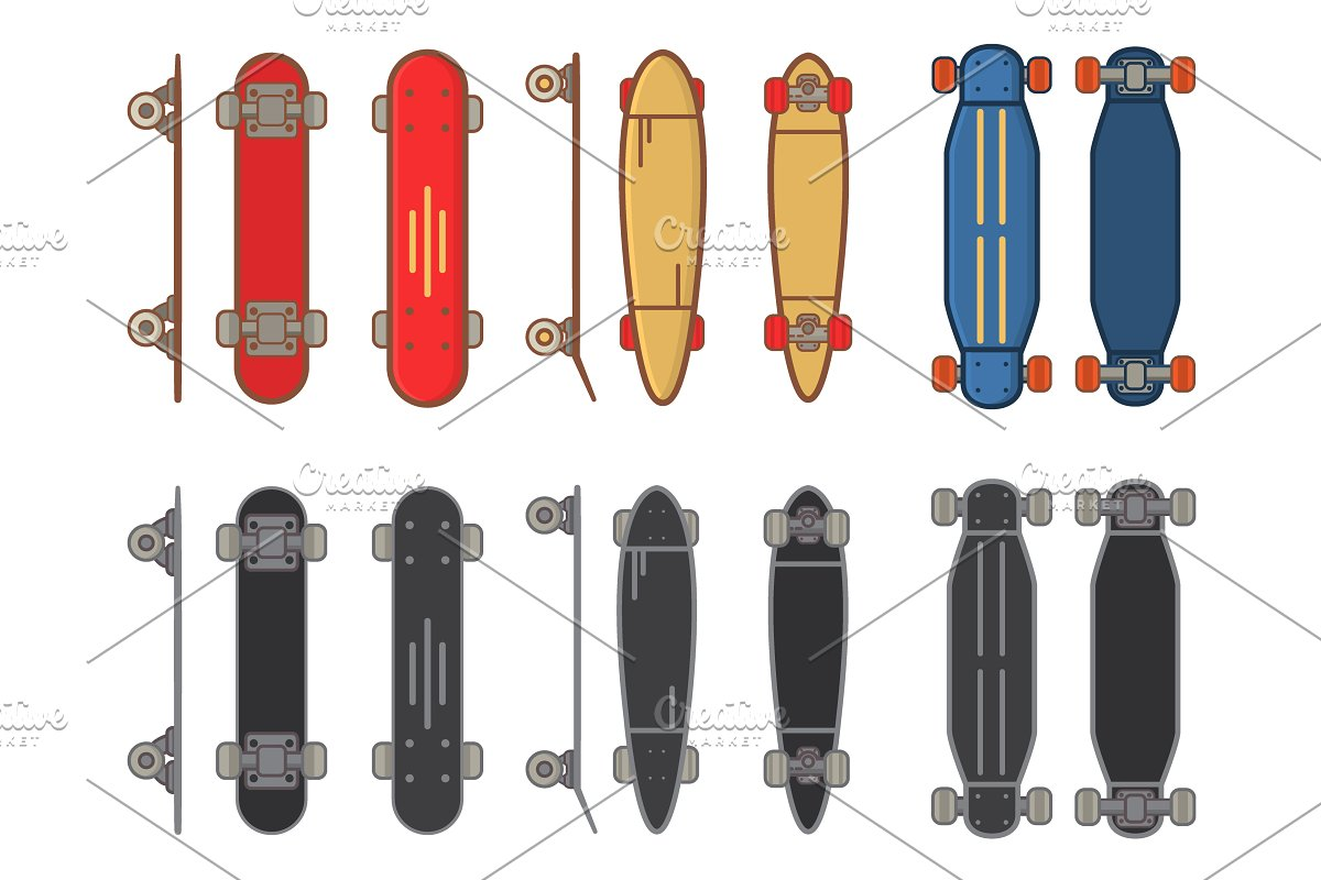 Skateboard collection.