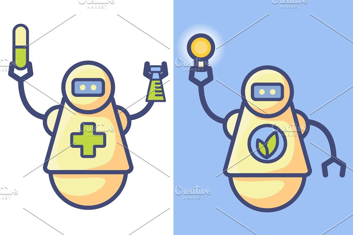 Robot green energy,robot doctor.