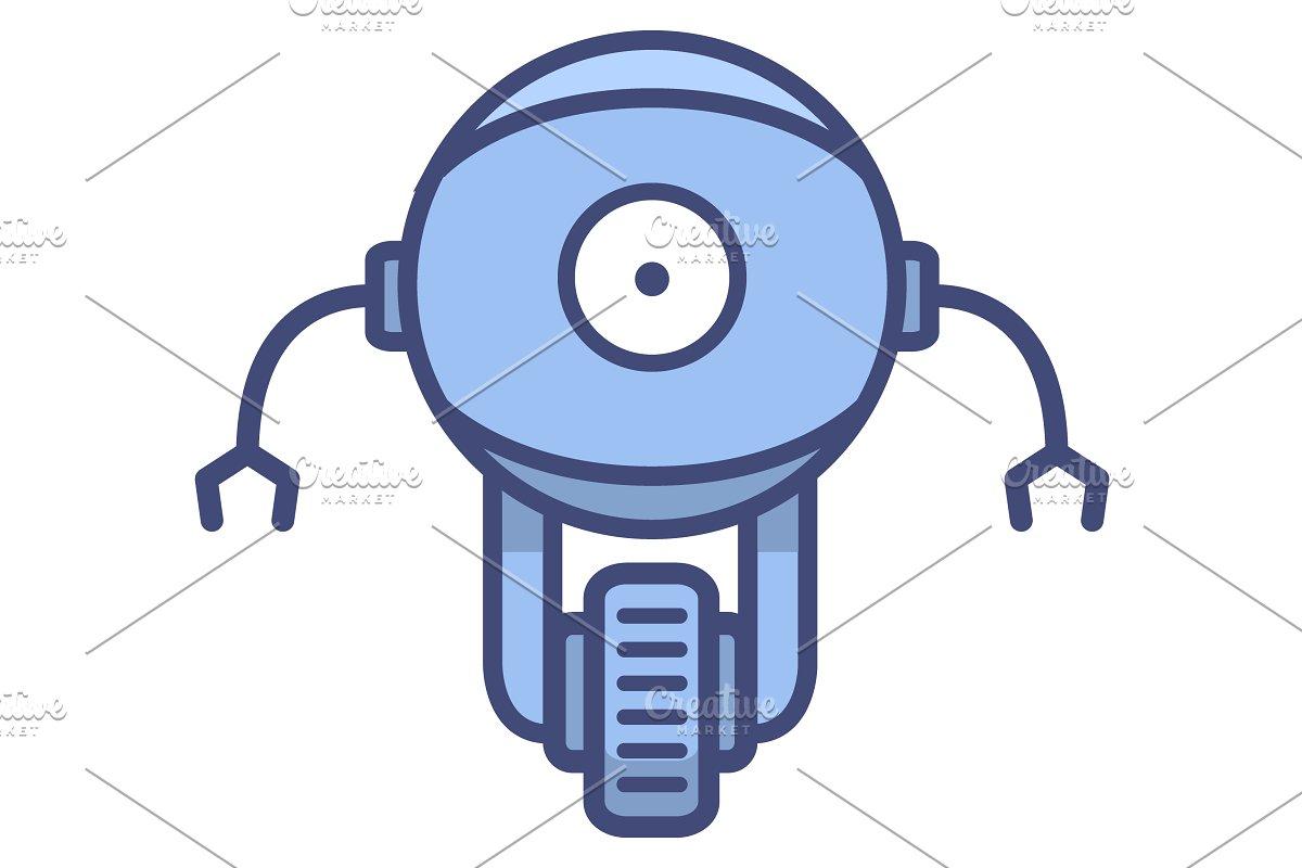 Robot in cartoon style.