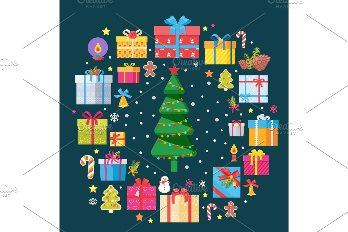 Christmas Tree and Presents with