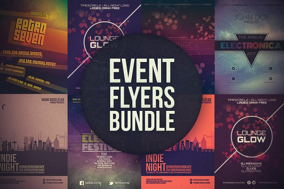 event flyers bundle flyer templates creative market