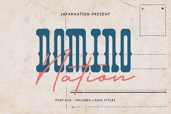 Domino Nation - Font Duo