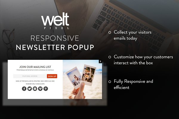 Magento Themes: WeltPixel - Newsletter Popup by WeltPixel