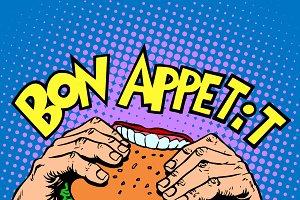 Bon appetit Burger sandwich