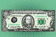Banknote hundred 100 dollars