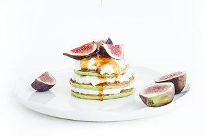 Squash pancakes with soft cheese
