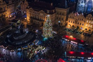 Staromestska square in Christmas