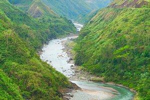 River in Cordillera mountains