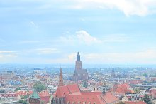 Aerial view on Wroclaw, Poland