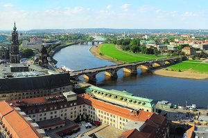 Aerial Dresden view, Germany