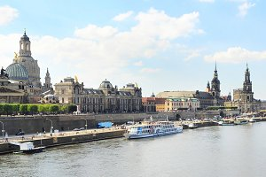 Skyline of Dresden in the sunshine