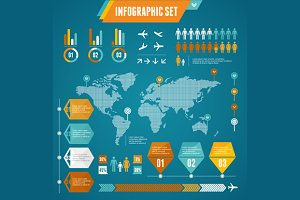 Infographics Elements Set. Vector