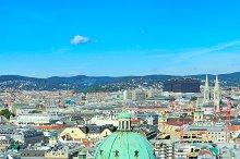 Vienna panoramic view, Austria
