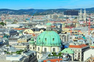 Vienna panoramic view, Austria
