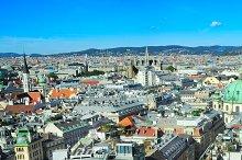 Sunshine day in Vienna, Austria
