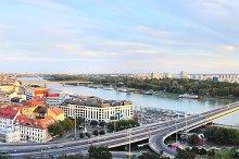 Panorama of Bratislava, Slovakia