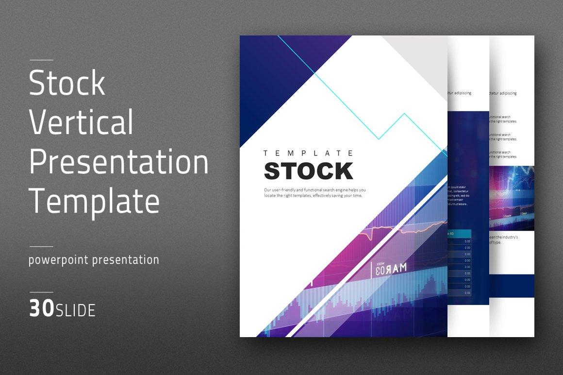Stock Ppt Template Vertical Creative Market