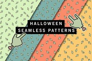 Vector Halloween Zombie pattern
