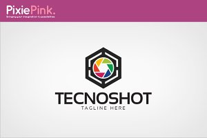 Tecno Shot Logo Template