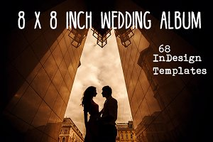 "8x8"" Wedding album InDesign template"