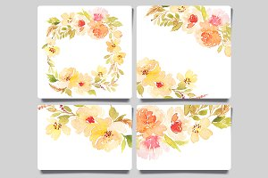 Greeting Cards. Set of roses