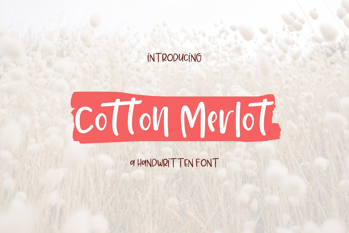 Cotton Merlot - a handwritten font