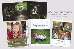 Holiday Card Template Pack