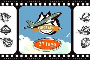 Plane icons set