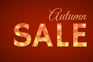 3 sale signs for autumn season