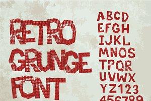 Retro type grunge font