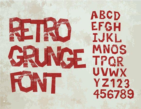 Retro type grunge font in Symbol Fonts