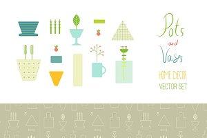 Vases & Pots & Plants