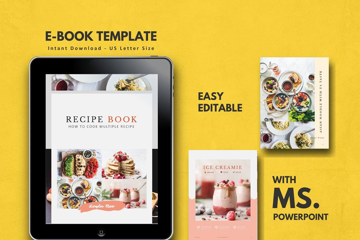 Minimal Recipe Book Template Ppt Brochure Templates