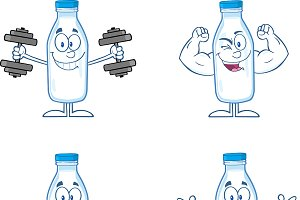 Funny Milk Bottle Collection - 1