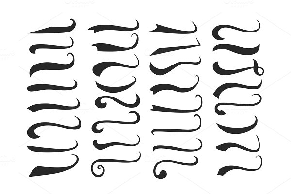 Calligraphy Abcd In Different Fonts