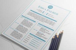 Aqua docx resume + cover letter