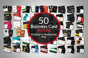 50 Corporate Business card Bundle