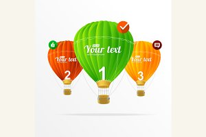 Infographics and Air Ballons. Vector