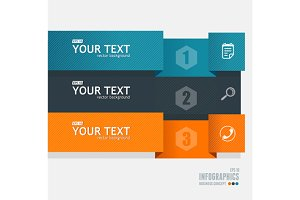 Colorful Text Boxes, Infographics.