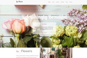 "Feminine WordPress Theme ""Les Fleur"""