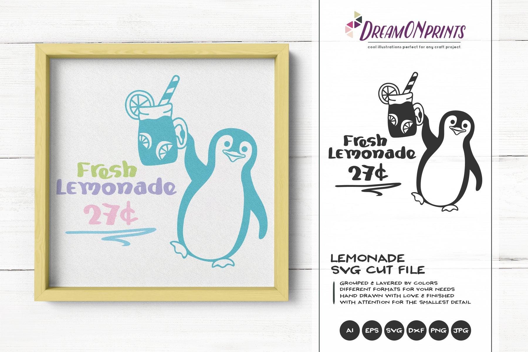 Fresh Lemonade Svg Penguin Summer Pre Designed Photoshop Graphics Creative Market