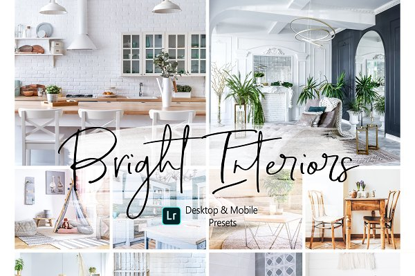 10 Bright Interior Lightroom Presets
